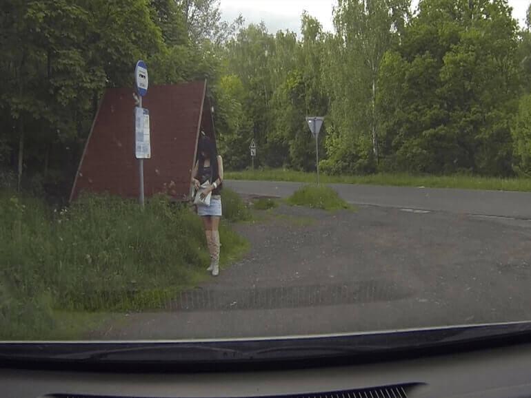 Parkplatz Hure in Tschechien auf privatem Amateur Sex Foto